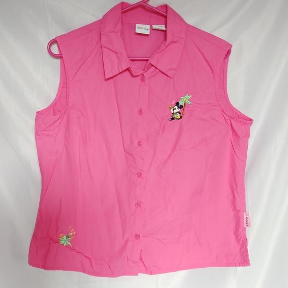 🏔️ 5/$25 Tank Disney Hawaii Pink Sleeveless XL